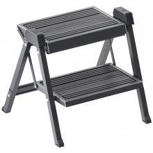 Cкладная лестница табурет Hailo Step-Fix 405 х 390 х 385 мм антрацит