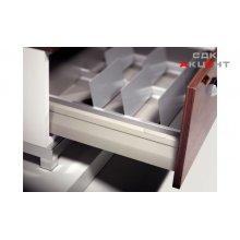 Стойка ограничительная для строк хранения, сталь, цвет белый алюминий 140x100мм