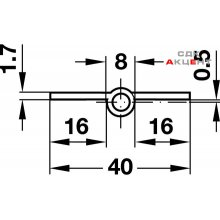 Петля латунь никелир.мат.прав длина 60мм