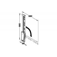 Гардеробный лифт Otto цвет алюминий, нагрузка до 5 кг