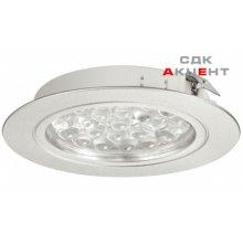Вбудований світильник LED 3001 алюміній колір хром, холодний білий 6400 K 24V/1,7 W
