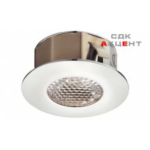 Светильник встроенный LED холодный белый цвет 5000 - 5650 К 1,2 Вт