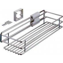 Полка выдвижная 160х452х94 мм, сталь, хром полиров.