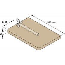 Врезной держатель полок PS сталь гальванизированный 150 мм