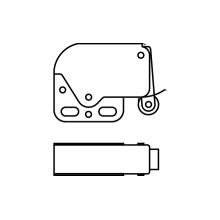 """Автоматическая пружинная защелка """"Mini-latch"""" без ответной части"""