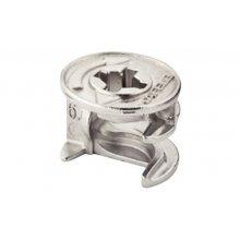 Корпус стяжки MINIFIX без бурта цинковый без покрытия D15мм толщина детали 16мм