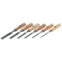 Набор долото с деревянной ручкой