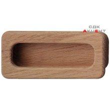 Ручка врезная деревянная 110х50х15 мм, дуб натур.