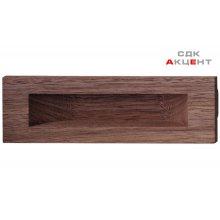 Ручка врізна дерев'яна 160х50 мм, горіх натуральний