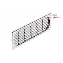 Вентиляционная решетка 225х64 мм, пластмасса, хромированная