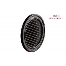 Решетка вентиляционная D60 мм, пластмасса, коричневая