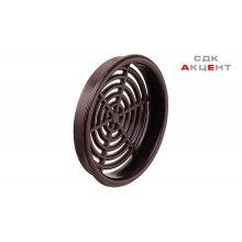 Решетка вентиляционная круглая D65 мм, пластмасса коричневая