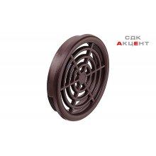 Решетка вентиляционная пластмасса цвет: коричневый 48 мм