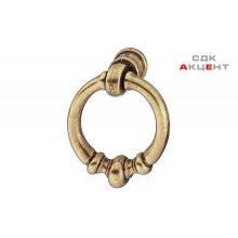 Ручка-кольцо 35 мм, цамак, старая бронза