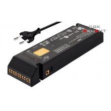 Блок питания для LED 12V/15W пластиковый черный на 6 выходов со шнуром с вилкой EU 250V 2000мм