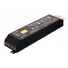 Блок питания для LED 12V/30W пластиковый черный на 6 выходов 28х50х165мм