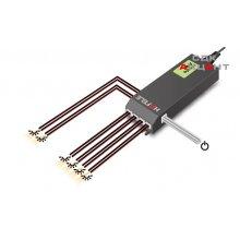 Блок питания для LED 24V/15W на 6 выходов пластиковый черный 20х45х155мм