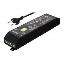 Блок питания для LED 24V/15W на 6 выходов пластиковый черный со шнуром с вилкой EU 250V 2000мм