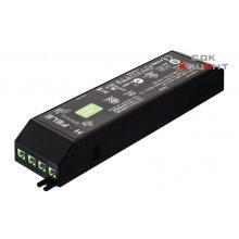 Блок питания для LED 24V/30W на 6 выходов пластиковый черный 28х50х165мм