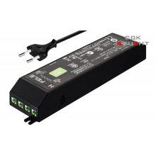 Блок питания для LED 24V/30W на 6 выходов пластиковый черный со шнуром с вилкой EU 250V 2000мм