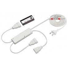 Радиовыключатель с 3-канальным пультом дистанционного управления, 230В / 2,5 А пластмасса белая
