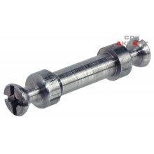 Болт стяжки рафикс для двойного крепления стальной без покрытия для отверстия D5мм толщина детали 16-22мм