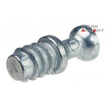 Болт стяжки рафикс M20 цинковый сплав гальванизированный 16.5мм для отверстия 5мм резьба 7.5мм