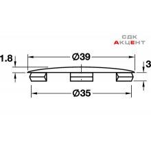 Заглушка для корпуса стяжки MAXIFIX пластиковая белая D39мм