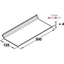 Полка Deko-Wall 88, 300х125 мм, пластмасса прозрачная