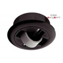 Мебельный ролик мягкий стационарный D 64мм Н 14 мм пластик черный