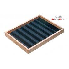 Вставка в ящик для драгоценностей 300x227x32мм деревянная с 7 отделениями