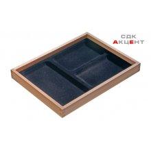 Вставка в ящик для драгоценностей 300x227x32мм деревянная с 3 отделениями