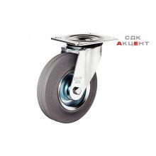 Мебельный ролик без тормозов 160 мм нагрузка 135 кг, оцинкованный