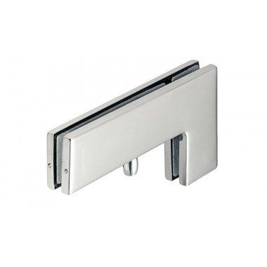 Ответная часть угловая к петле верхней для маятниковых дверей, нержавеющая сталь, 218х106х31мм