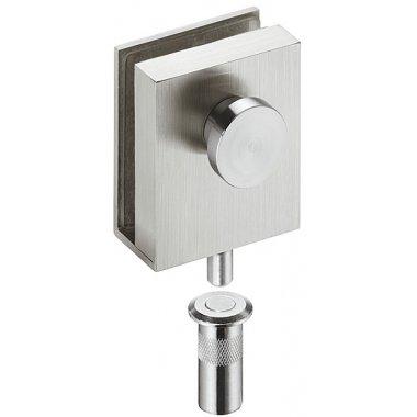 Ригель закрепляющий для стеклянных дверей, 8-10 мм, нержавеющая сталь