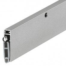 Уплотнитель для дверей, алюминий серебристый/ ПВХ серый 1083мм