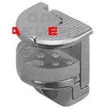 Полкодержатель с защелкой-фикс. для стекла до 10 мм