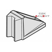 Стопор для раздвижных стеклянных дверей алюминиевый хромированный матовый 57х28х39мм