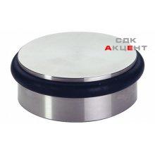 Стопор дверной PUK покрытия нержавеющая сталь матовая D92мм 34мм