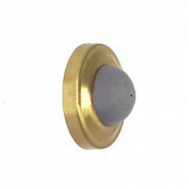 Стопор дверной настенный латунный 27мм, цвет бронзы
