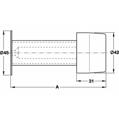 Стопор дверной настенный нержавеющая сталь матовая 120мм