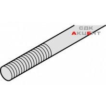 Выдвижной штифт к шпингалета M10, длина 2500мм, стальной, оцинкованный