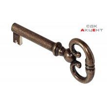 Ключ фигурный 35 мм, латунь, старая бронза