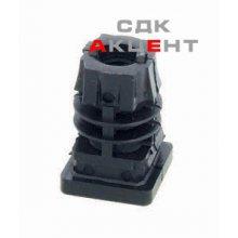 Вставка-ніжка М10 для труби 25х25 мм, пласт. черная.