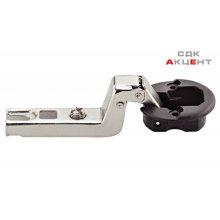 Петля METALLA MINI A для стеклянных дверей 4-6мм, 95 градусов, внутренняя, стальная / пластиковая никелированная / черная 52х10мм