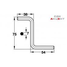 Ключ 6-гранный Z-образный сталь оцинков.75x38x54мм