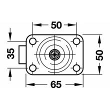 Крепежная пластина для букового колеса со стопором диаметр колеса 80мм