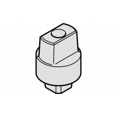 Ось опорная к доводчика D25х15 мм, сталь, желтая