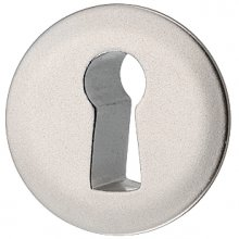 Накладка под ключ 25 мм, цамак, никелированная матовая