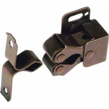 Двойная роликовая защелка, сталь, темно-коричневая